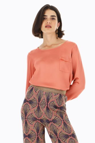 dixie blusa donna geranio C239S018