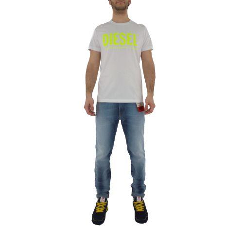 diesel T-DIEGO-LOGO 0AAXJ 100A t-shirt uomo bianco