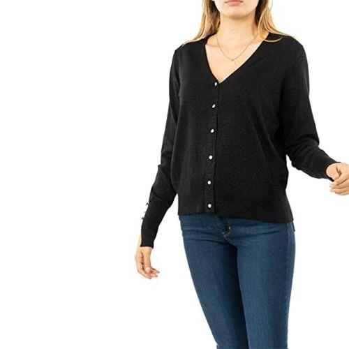 molly bracken LA541H20 BLACK cardigan donna nero