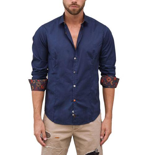 koon camicia uomo blu C950 BS77