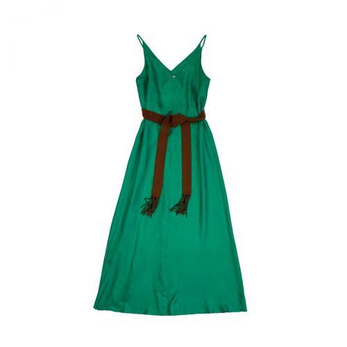 alysi twill seta lungo donna abito 101357