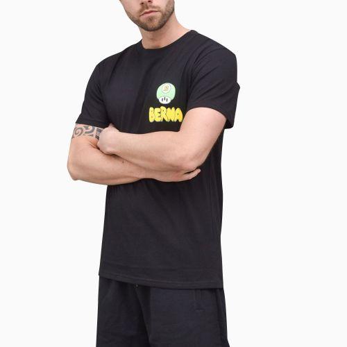 berna t-shirt uomo nero M 210042