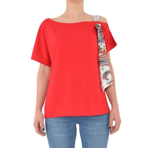 gaudi 111BD64061 3477 t-shirt donna rosso