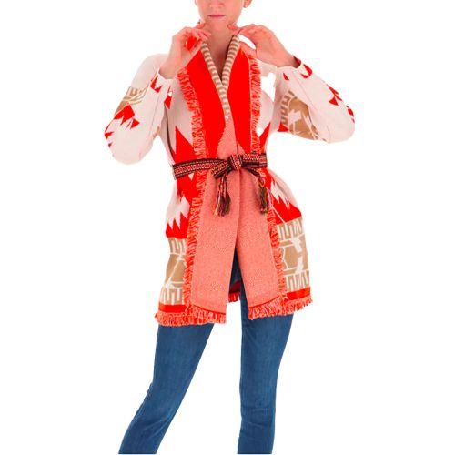 vicolo cardigan donna panna arancio 7032X