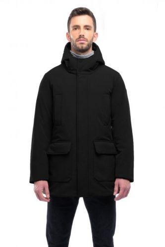 mixture X114 020 giaccone uomo nero