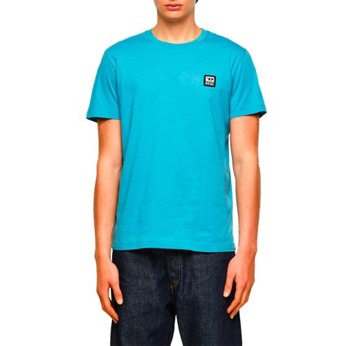 diesel t-shirt uomo celeste T-DIEGOS-K30