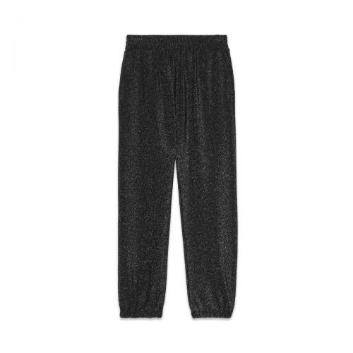 ottod'ame pantalone jogger con lurex donna pantaloni ep8788