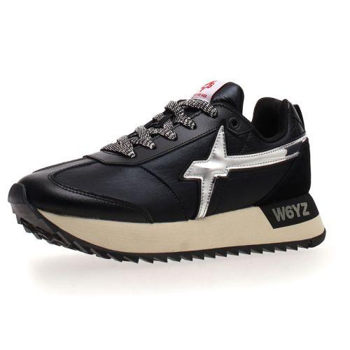 W6YZ scarpe donna nero argento KIS-W