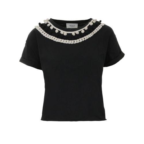 vicolo t-shirt donna nero RH0796