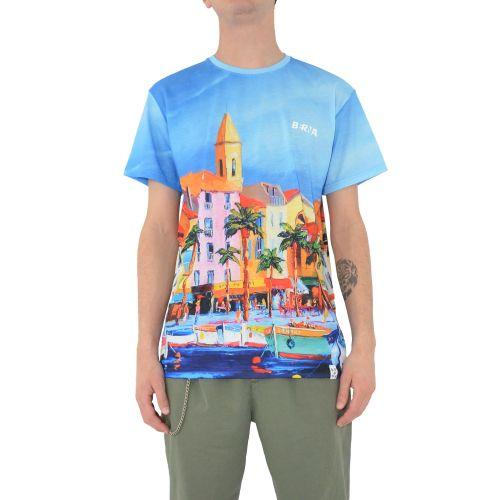 berna M 210043 30 t-shirt uomo celeste