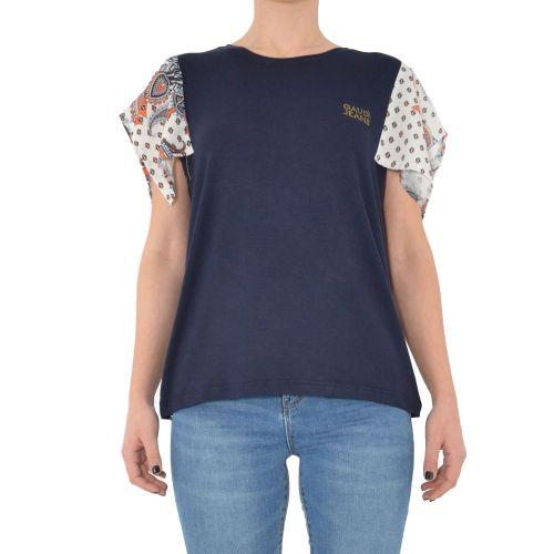 gaudi 111BD64059 2800 t-shirt donna blu