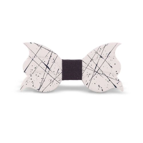 Lord Dandy Art Designer Uomo Papillon Bianco