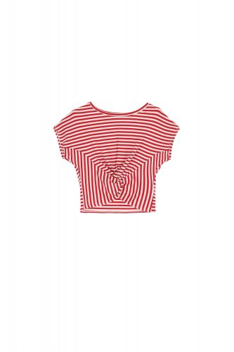 dixie t-shirt donna rosso T512R131