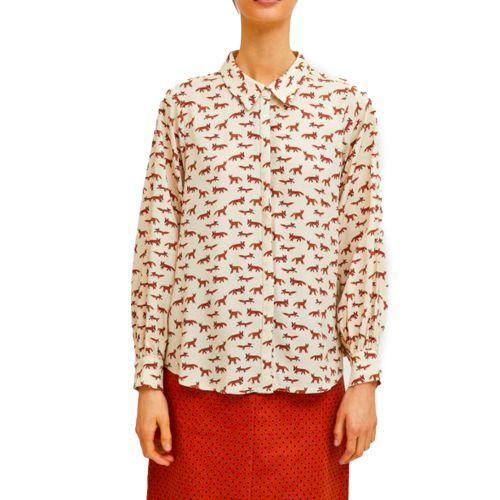 compania fantastica camicia donna beige FA21HAN28