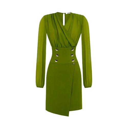 rinascimento abito donna verde CFC0105082003