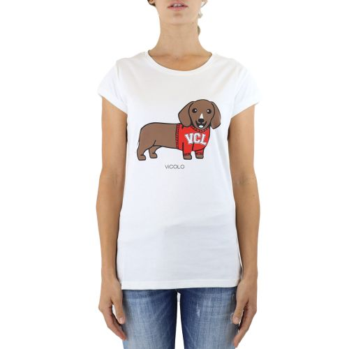 vicolo t-shirt donna latte RX0108