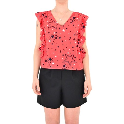denny rose 111ND45009 118927-01 blusa donna rosso