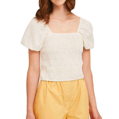 compania fantastica SS21SAM36 BIANCO blusa donna bianco
