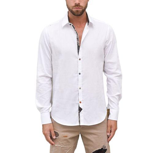 koon camicia uomo bianco DEMI BS77