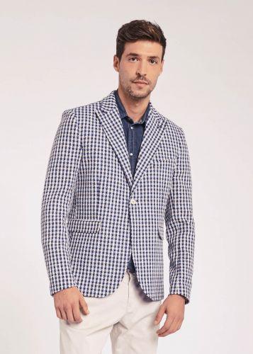 gaudi 011BU35039 016031-01 giacca uomo blu e panna