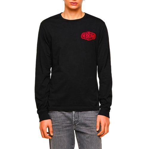diesel t-shirt uomo nero T-DIEGOS-LS-K24