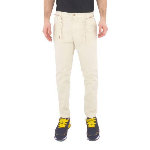 squad2 RIO 815 pantalone uomo panna