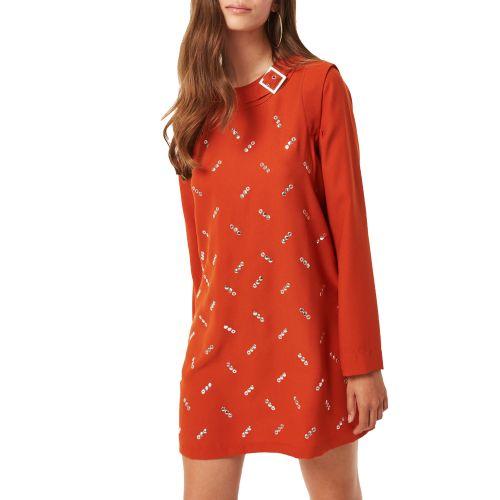 denny rose 021DD10048 2382 abito donna arancione