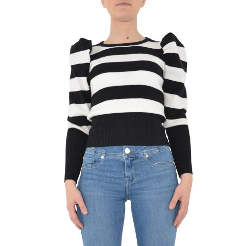 miss love 7369 BIANCO/NERO maglia donna bianco e nero
