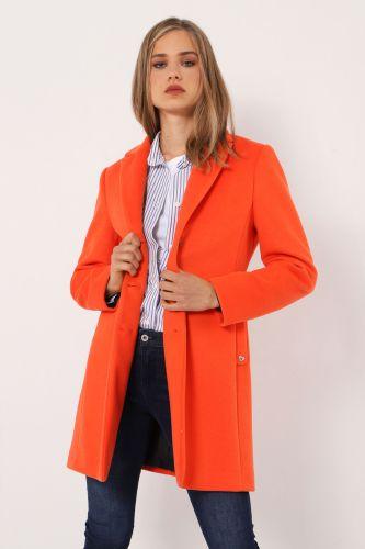 please cappotto donna arancio K493INATAS