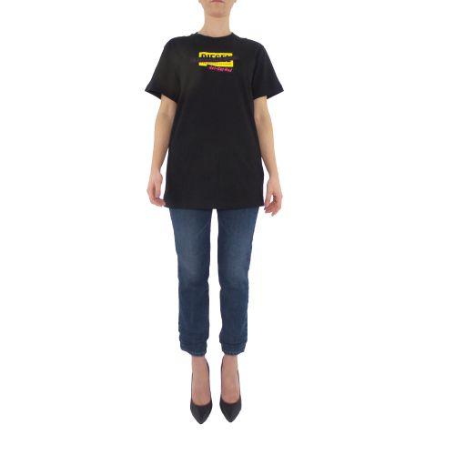 diesel T-DARIA-R2 0HERA 9XX t-shirt donna nero