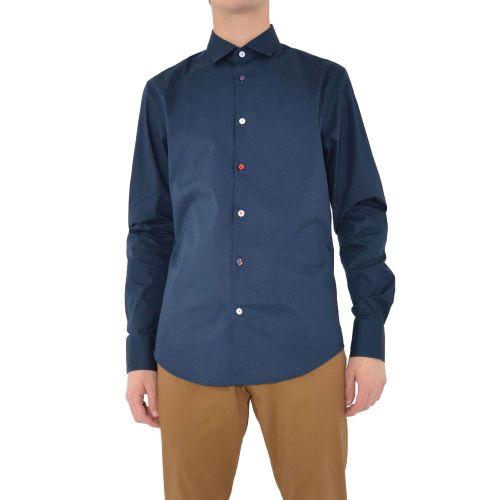 koon N877-BOTT-PE21 3 camicia uomo blu