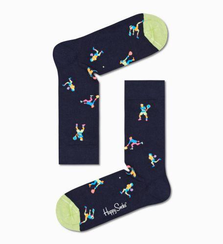 happy socks calzini donna blu GAME SET SOCK/D