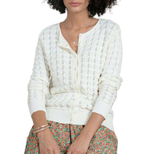molly bracken EV67P21 OFFWHITE cardigan donna panna