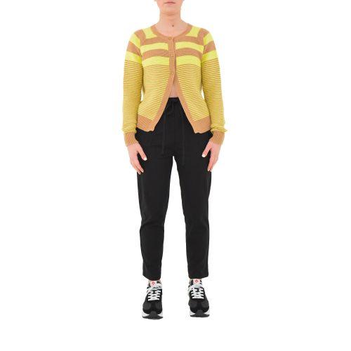 bighet 1601/2031 GIALLO CAMMELLO cardigan donna cammello e giallo