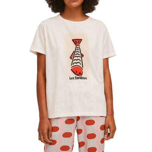 compania fantastica SS21SEV04 BIANCO t-shirt donna bianco