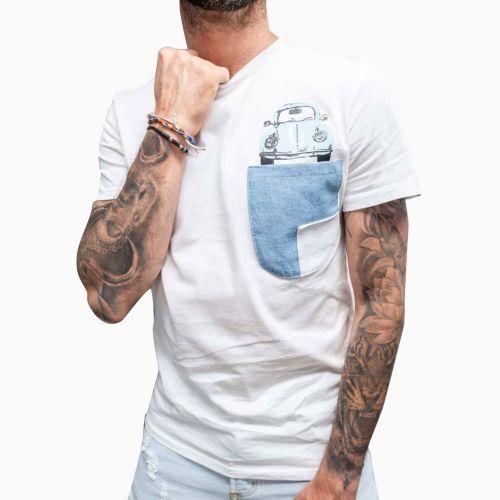 berna M 210243 24 t-shirt uomo latte