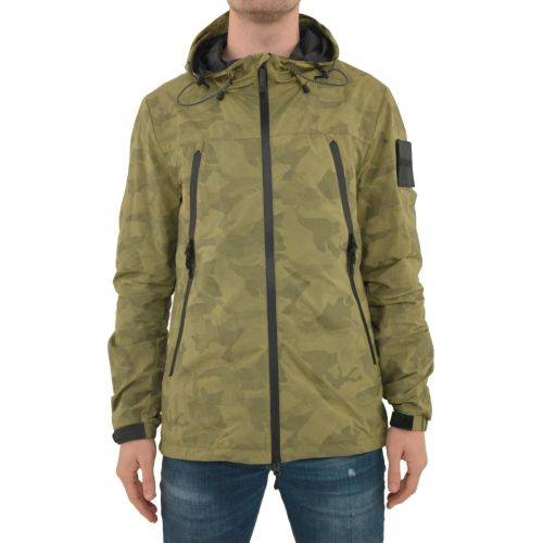 outhere giacca uomo verde militare