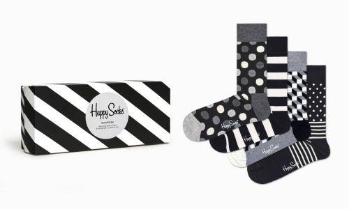happy socks calzini uomo nero bianco PACK CLASSIC BLACKWHITE SOCKS/U