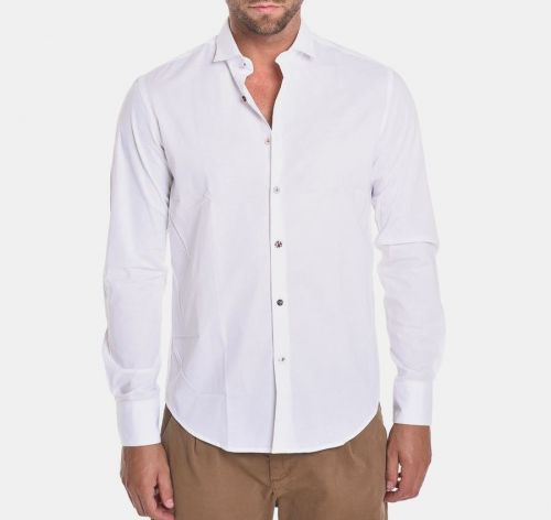 koon N877-BOTT BIANCO camicia uomo bianco