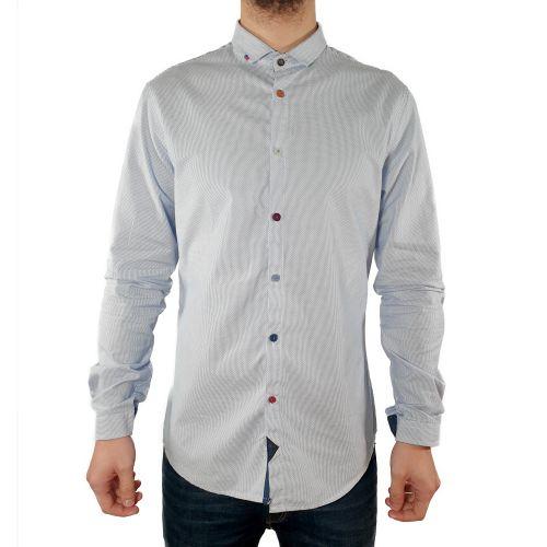 koon VALDO-BX16 BIANCO-CELESTE camicia uomo bianco e celeste