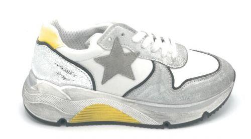 ovye ELETTRA 1 SPIKE BIANCO-ARGENTO scarpe donna