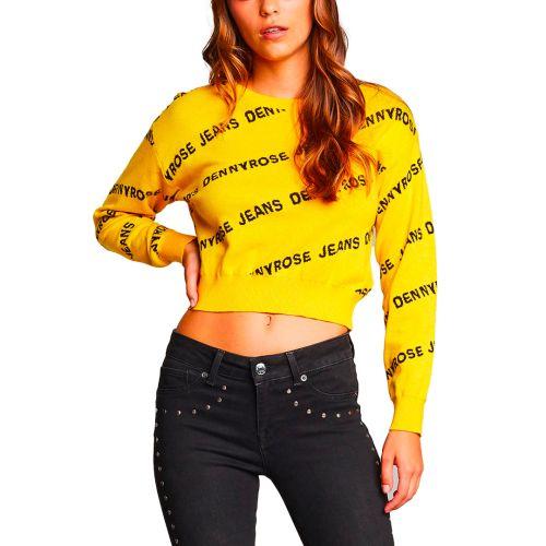 denny rose maglia donna giallo 121ND53015