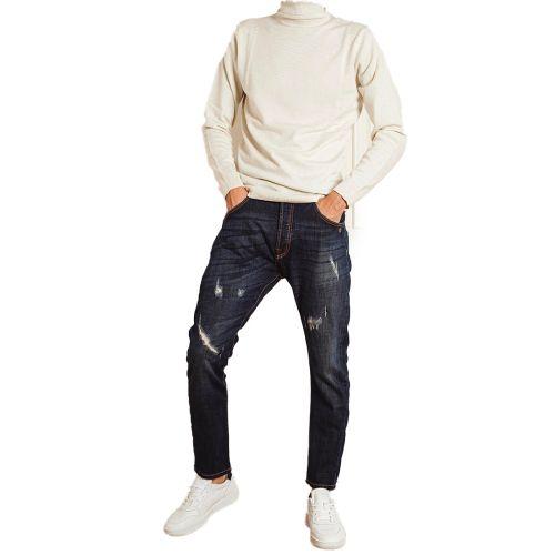 berna pantalone uomo denim medio M 215102