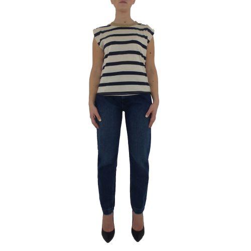 dixie T945R046 1650 t-shirt donna blu