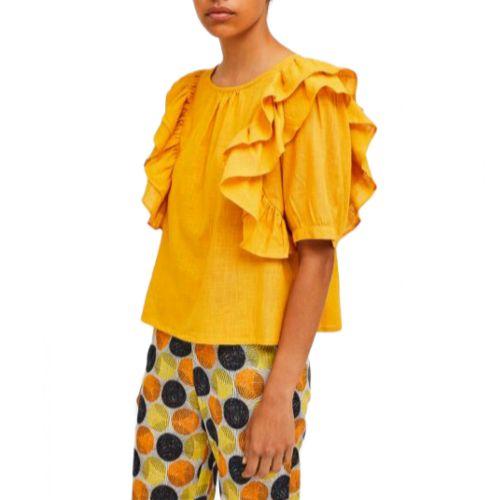 compania fantastica SP21SAM27 MOSTARDA blusa donna giallo