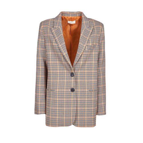 vicolo giacca donna panna marrone TX0590