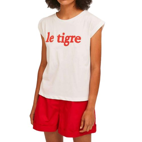 compania fantastica SS21SEV29 BIANCO t-shirt donna bianco