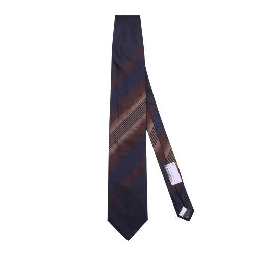 Hubert Uomo Cravatta Blu Bronzo Marrone