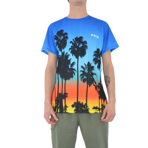 berna t-shirt uomo blu celeste arancione M 210047