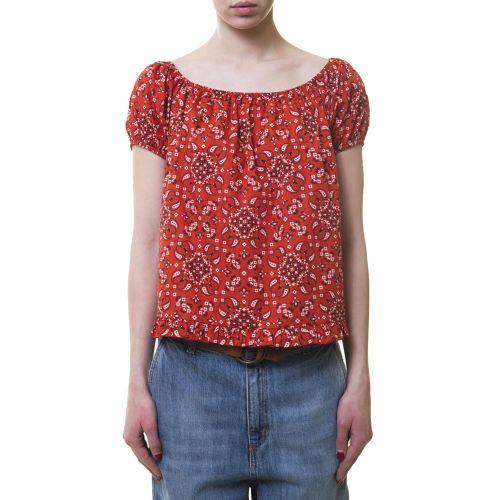 vicolo TH1409 ROSSO NERO blusa donna nero e rosso